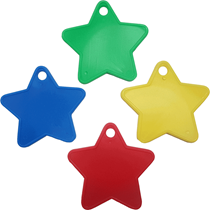 Assorted Colour Plastic Star Balloon Weights 100pk