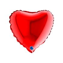 """Valentine Grabo 9"""" Red Heart Foil Balloon"""