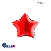 """Grabo Red Star 9"""" Foil Balloon"""
