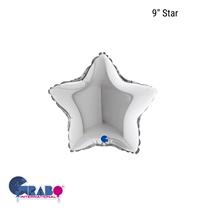 """Grabo Silver 9"""" Star Foil Balloon"""