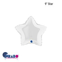 """Grabo White Star 9"""" Foil Balloon"""