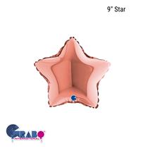 """Grabo Rose Gold 9"""" Star Foil Balloon"""