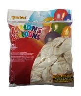 "Pastel White 10"" Latex Balloons 100pk"