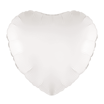 "White 18"" Heart Foil Balloon"