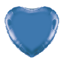 "Blue 18"" Heart Foil Balloon"