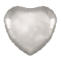 "Silver 18"" Heart Foil Balloon"