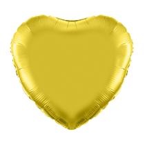 """Gold 18"""" Heart Foil Balloon"""