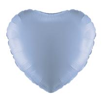 """Light Blue 18"""" Heart Foil Balloon"""