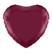 "Burgundy 18"" Heart Foil Balloon"