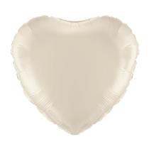 "Ivory 18"" Heart Foil Balloon"