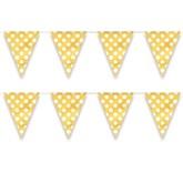 Decorative Dots Sunflower Yellow Flag Banner 12ft