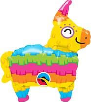 """Mini Rainbow Pinata Air Fill 14"""" Foil Balloon"""