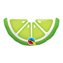 """Mini Lime Slice Air Fill 14"""" Foil Balloon"""