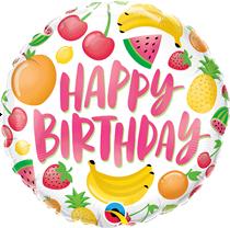 "Happy Birthday Fruits 18"" Foil Balloon"