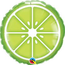 """Sliced Lime Fruit 18"""" Foil Balloon"""