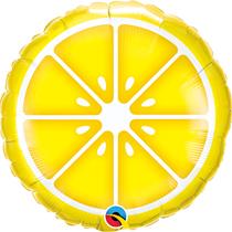 """Sliced Lemon Fruit 18"""" Foil Balloon"""