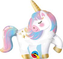 "Mini Pastel Unicorn Air Fill 14"" Foil Balloon"
