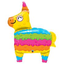 "Rainbow Coloured Giant 34"" Pinata Foil Balloon"