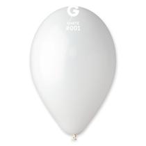 "Gemar Standard White 11"" Latex Balloons 100pk"