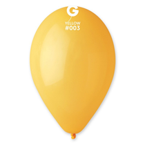 "Gemar Standard Yellow 13"" Latex Balloons 100pk"