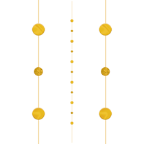 Gold Dots Balloon Tail String 1.8M