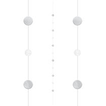 White Silver Dots Balloon Tail