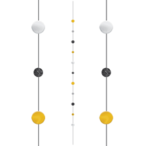 Black Gold Silver Dots Balloon Tail