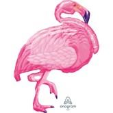 "Flamingo 35"" SuperShape Foil Balloon"