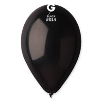 "Gemar Standard Black 12"" Latex Balloons 100pk"