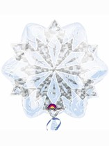 "White Christmas Snowflake 18"" Junior Shape Foil Balloon"