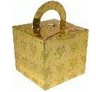 Balloon/Gift Boxes Gold Holo Hearts - 10pk