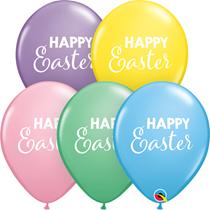 "Happy Easter Pastel Assortment 11"" Latex Balloons 25pk"