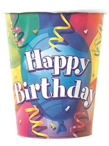8 Brilliant Birthday 9oz Paper Cups