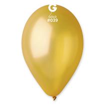 "Gemar Metallic Gold 12"" Latex Balloons 100pk"