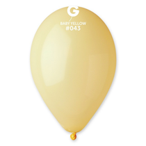 "Gemar Macaron Mustard 12"" Latex Balloons 100pk"
