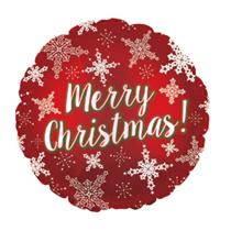 """Merry Christmas Snowflakes 17"""" Foil Balloon"""