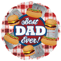 """Father's Day Best Dad Grilling 17"""" Foil Balloon"""