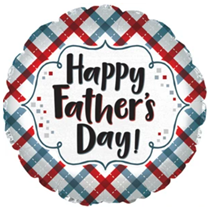 """Happy Father's Day Plaid 17"""" Foil Balloon"""