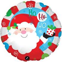 """Christmas Ho Ho Ho Santa 17"""" Foil Balloon"""