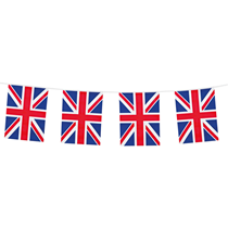 Union Jack Double Sided Print Flag Bunting 10M