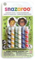 Snazaroo Rainbow Face Painting Sticks 6pk