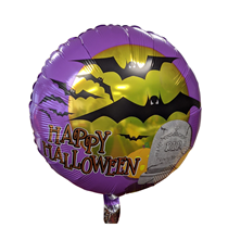 """Happy Halloween Purple 18"""" Foil Balloon"""
