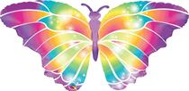 "Luminous Butterfly 44"" Foil Balloon"