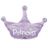 Birthday Princess Crown Foil Balloon