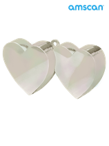 Iridescent heart shaped balloon weight