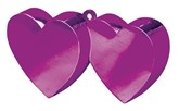 Magenta 6oz Double Heart Balloon Weight