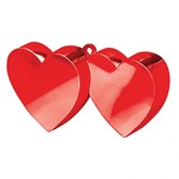 Red 6oz Double Heart Balloon Weight