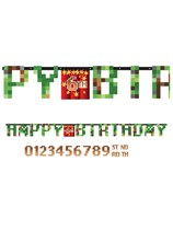 TNT Party Pixel Minecraft Add An Age Letter Banner