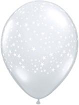 "11"" Diamond Clear Stars Latex Balloon - 50pk"