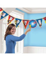 DC Superhero Girls Happy Birthday Add-an-Age Banner